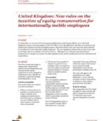 Insights from International Assignment Services: UK taxation of equity remuneration for mobile employees