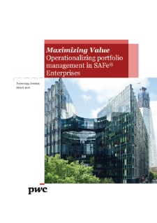 Maximizing Value Operationalizing portfolio management in SAFe® Enterprises