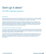 US Washington national tax services: Don't go it alone! The IRS collections process
